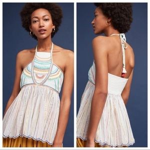 Anthropologie Floreat Itzel Rainbow Halter Top